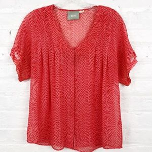Anthropologie/Maeve Tiburon 100% Silk Blouse XS